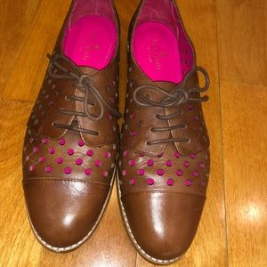 Kate Spade Leather Hole Punch Oxford Shoes